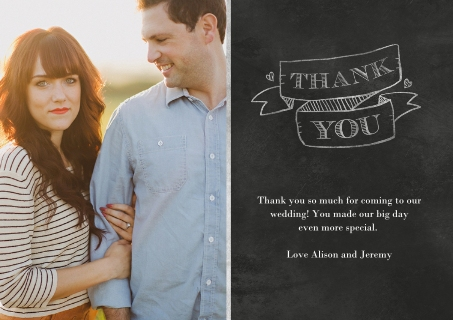 Wedding thank you cards thank you cards for wedding snapfish together always thank you junglespirit Images