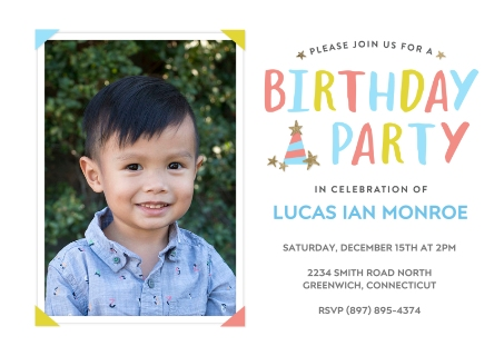 Birthday party invitations party invitations party invites birthday party hat filmwisefo