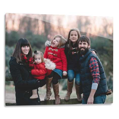 "14x11"" Aluminium Photo Print of women with boy and girl"