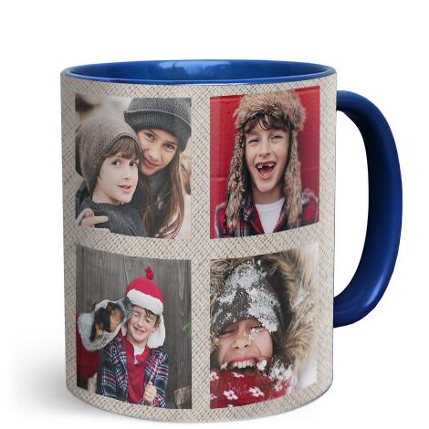 11oz Blue Personalised Photo Mug