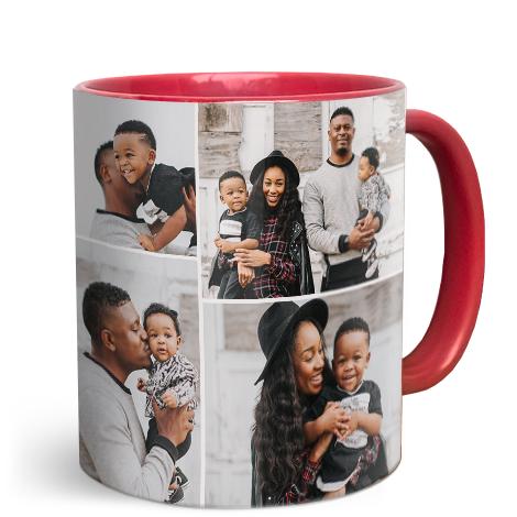 11oz Red Personalised Photo Mug