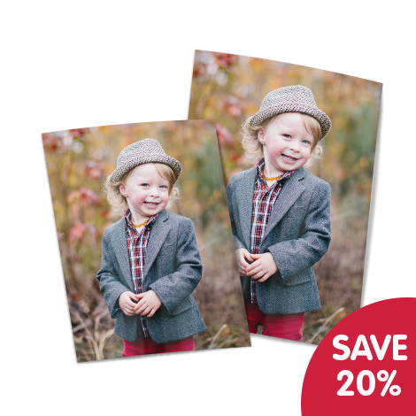 """Save 20% on 10x8"""" and 7x5"""" prints!"""