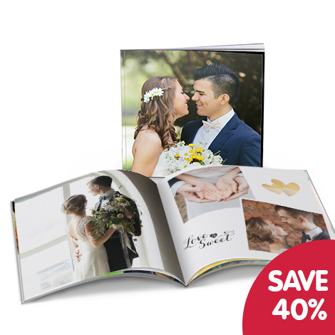 """Save 40% on a 8x8"""" photo book"""