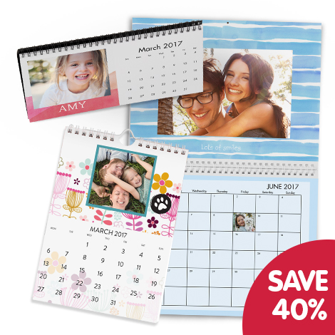 Save 40% when you buy 2 or more calendars