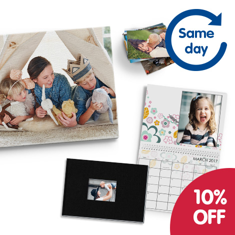 Save 10% on gifts and prints available on the Same Day Collect service