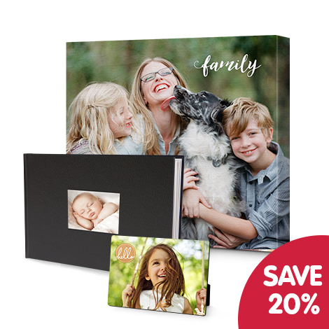 Save 20% on wall art and photo books