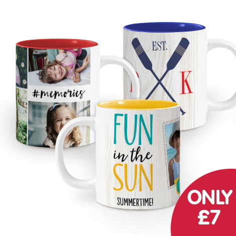 Only £7 on Colourful Mugs!