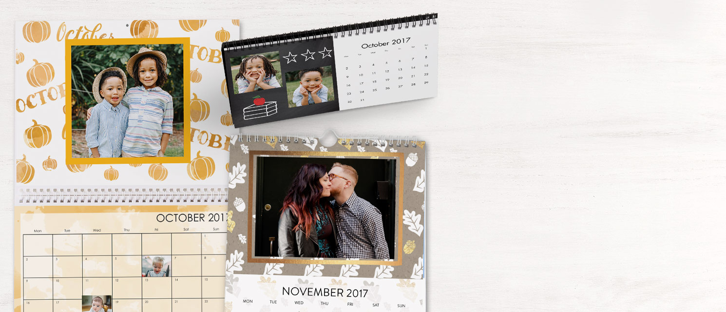 Save up to 50% on photo calendars! : valid until 28/10