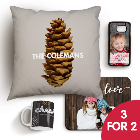 3 for 2 on photo gifts