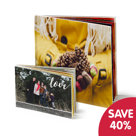 Save 40% when you buy 2 photobooks