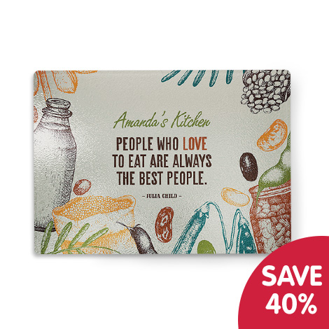 Save 40% Personalised chopping board