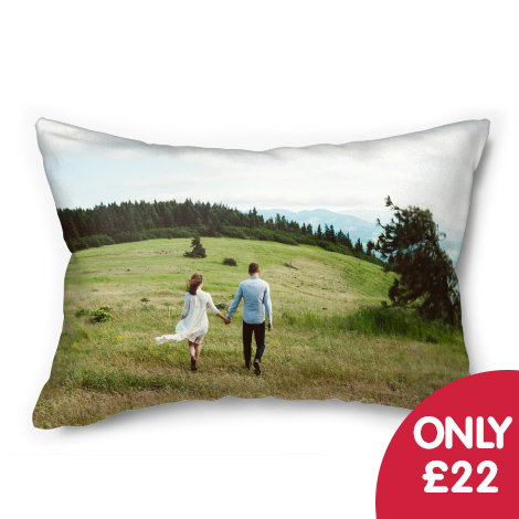 "Only £22 on 20x14"" photo cushion"
