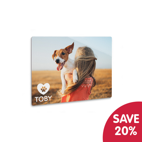 Save 20% on aluminium prints