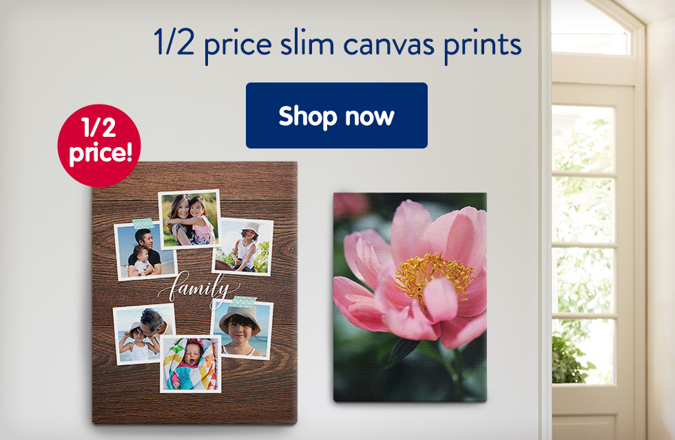 1/2 price slim canvas prints