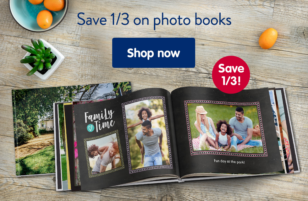 Save 1/3 on photo books