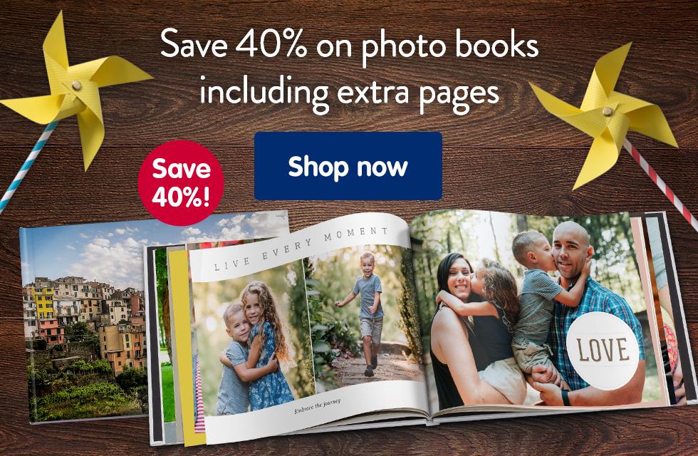 Save 40% on photo books