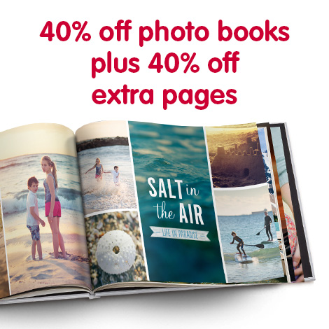 Save 40% on photo books