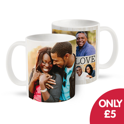 Only £5 on single and collage mugs