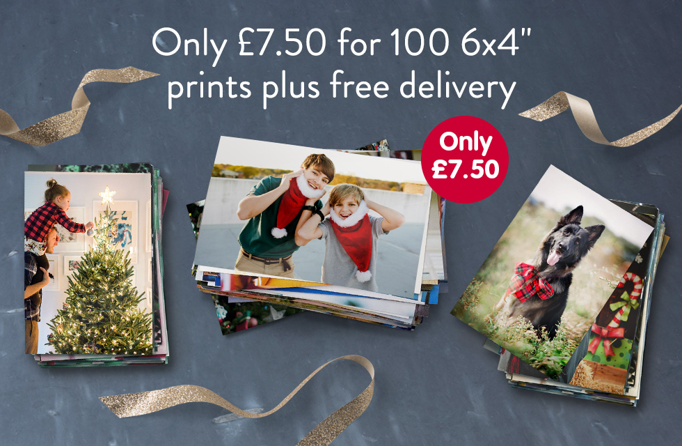 """Only £7.50 for 100 6x4"""" prints plus free delivery"""