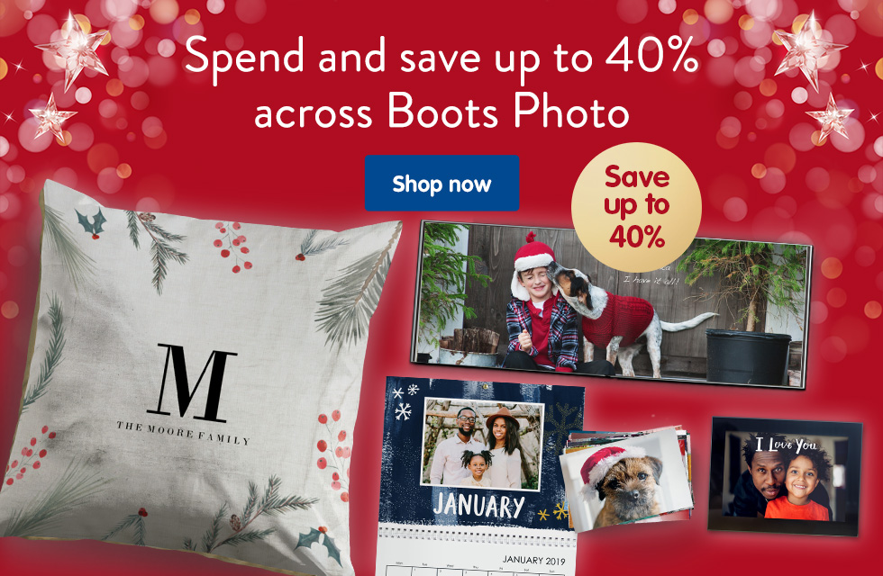 Spend and save up to 40% across Boots Photo