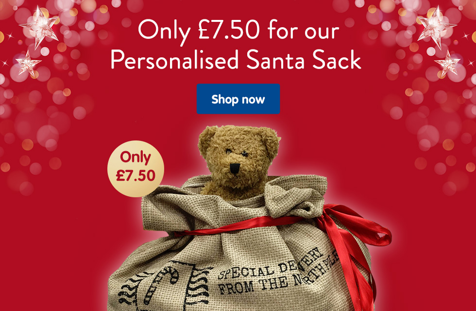 Only £7.50 for our Personalised Santa Sack