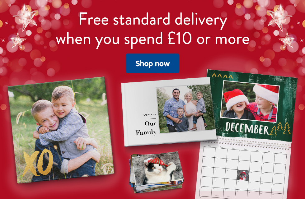 Free standard delivery when you spend £10 or more