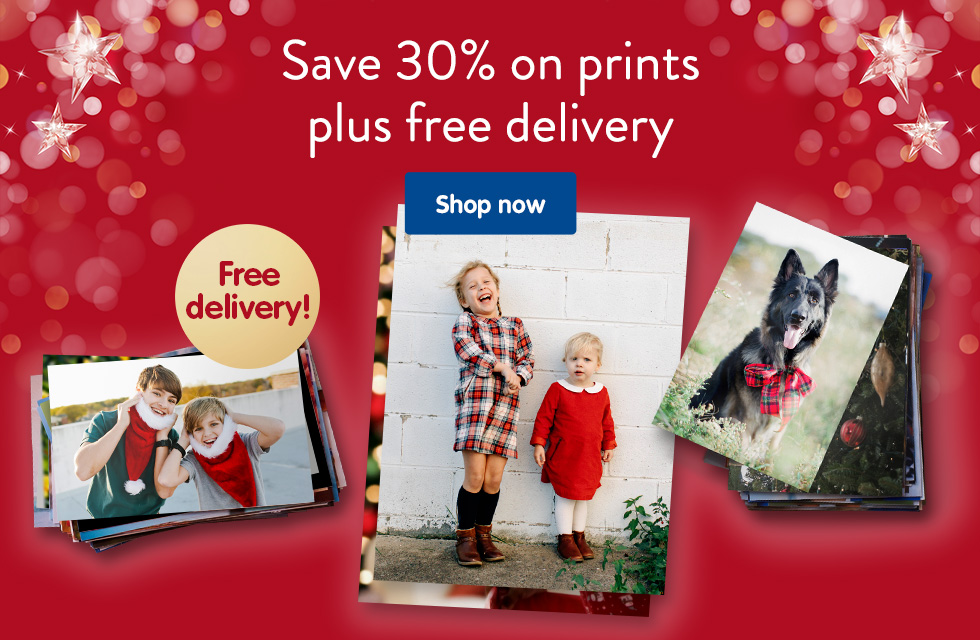 Save 30% on prints plus free delivery