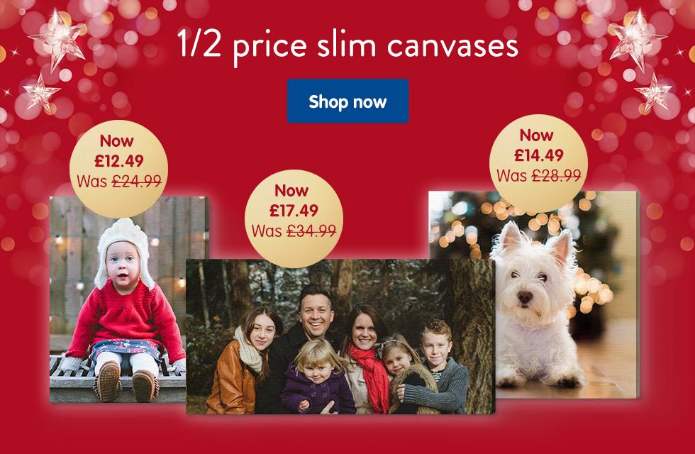 1/2 price slim canvases