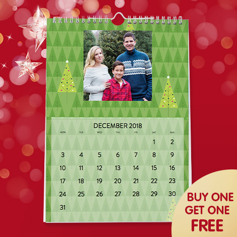 Buy one get one free A4 calendars