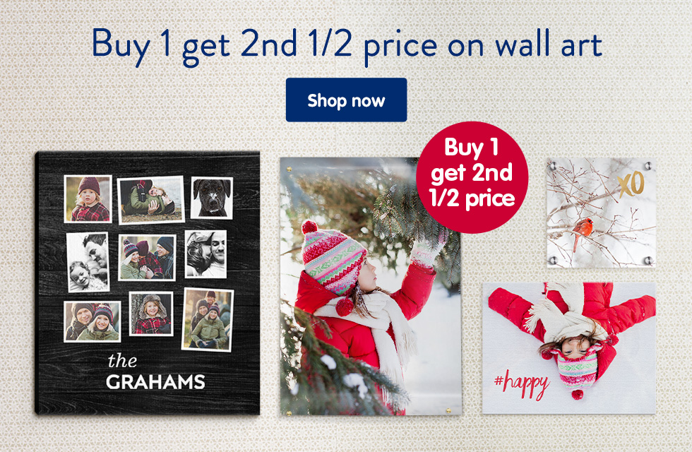 Buy 1 get 2nd 1/2 price on wall art