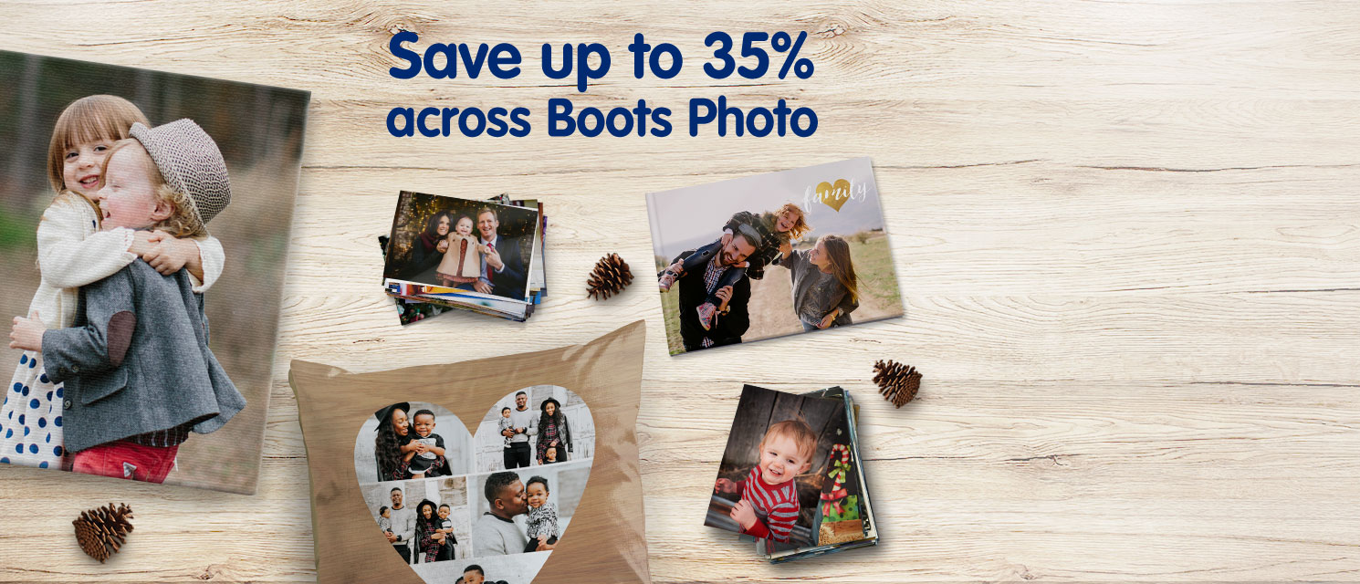 Save up to 35% across Boots Photo