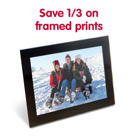 Save 1/3 on framed prints