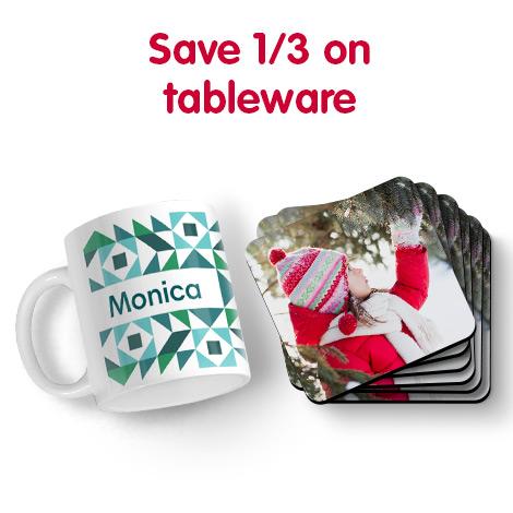 Save 1/3 on tableware
