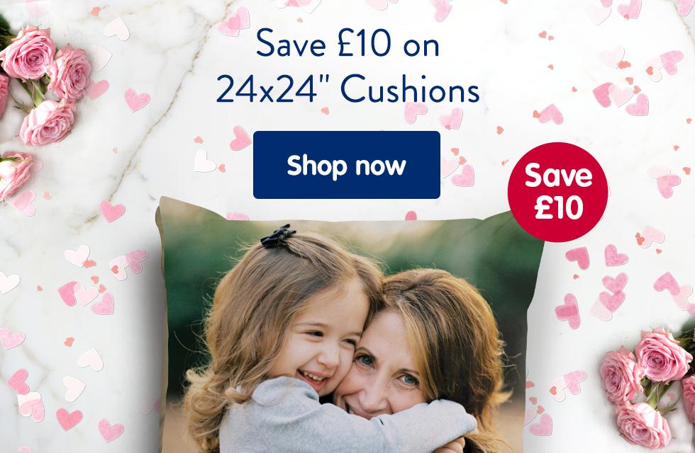 "Save £10 on 24x24"" Cushions"