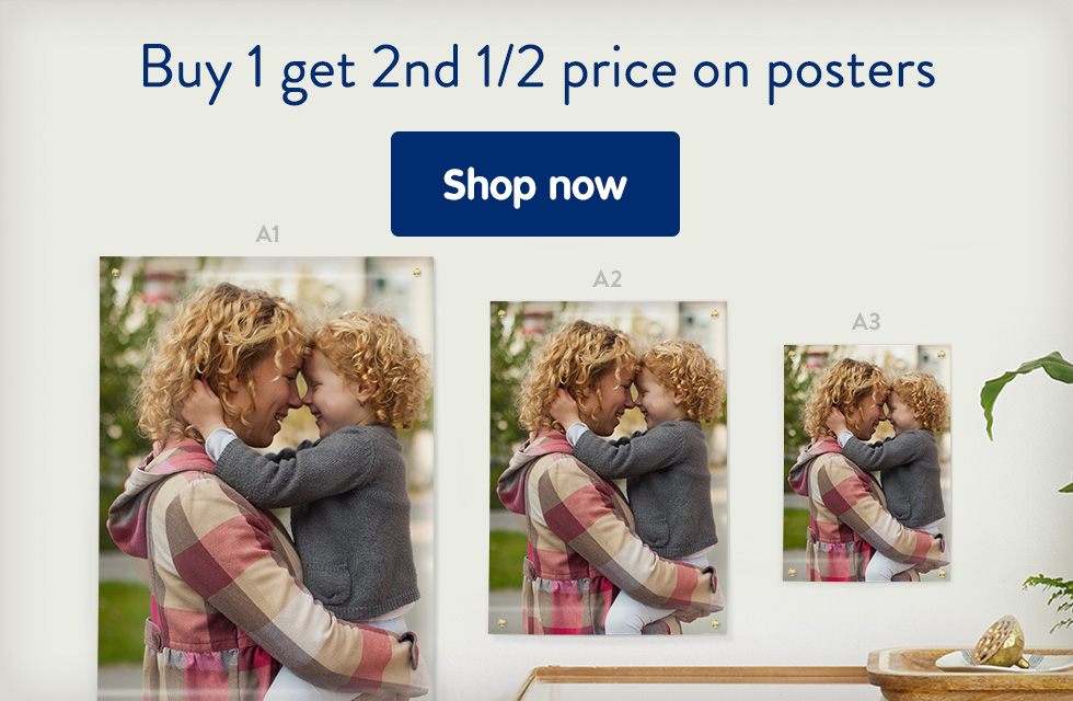 Buy 1 get 2nd 1/2 price on posters