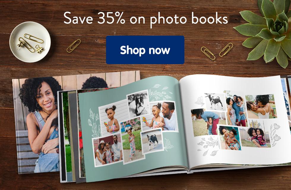 Save 35% on photo books