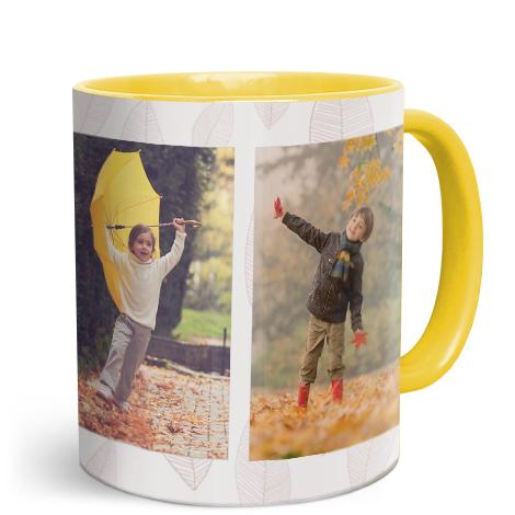 11oz Yellow Personalised Photo Mug