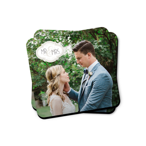 Set of 2 Personalised Photo Coasters