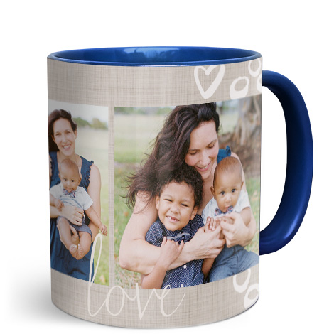11oz Blue Personalised Photo Mug