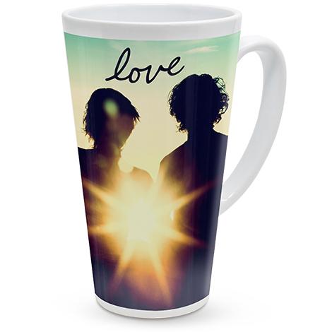 500ml (17oz) Personalised Photo Latte Mug