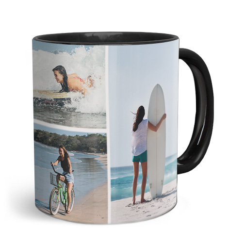 11oz Black Personalised Photo Mug