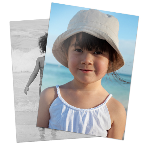 "30x20cm (12x8"") large print of girl at beach"