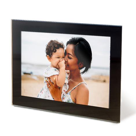 "10x8"" Framed Photo Print of women and baby at beach"