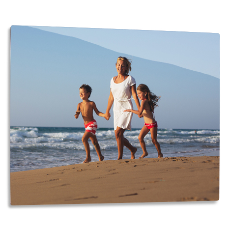 "35x28cm (14x11"") Aluminium Photo Print of women with boy and girl"