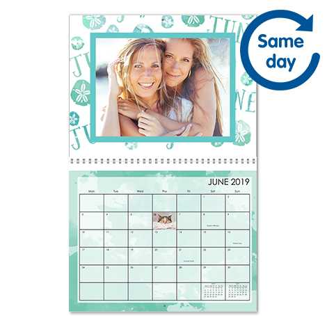 "A4 (11x8.5"") Personalised Photo Wall Calendar"
