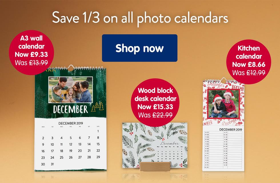 Save 1/3 on all calendars