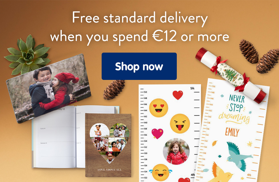 Free standard delivery when you spend €12 or more