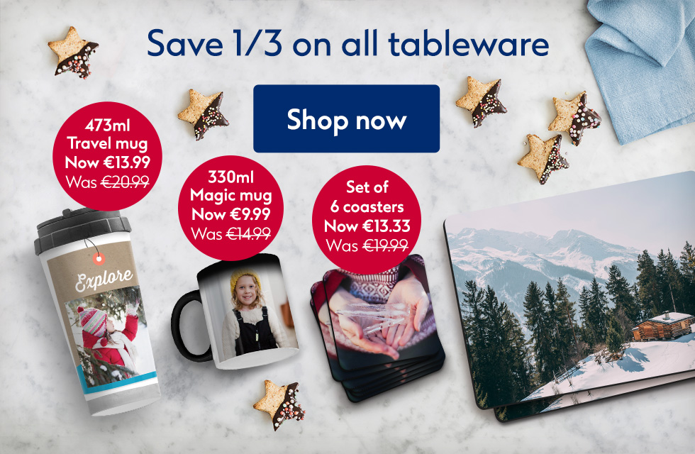 Save 1/3 on all Tableware