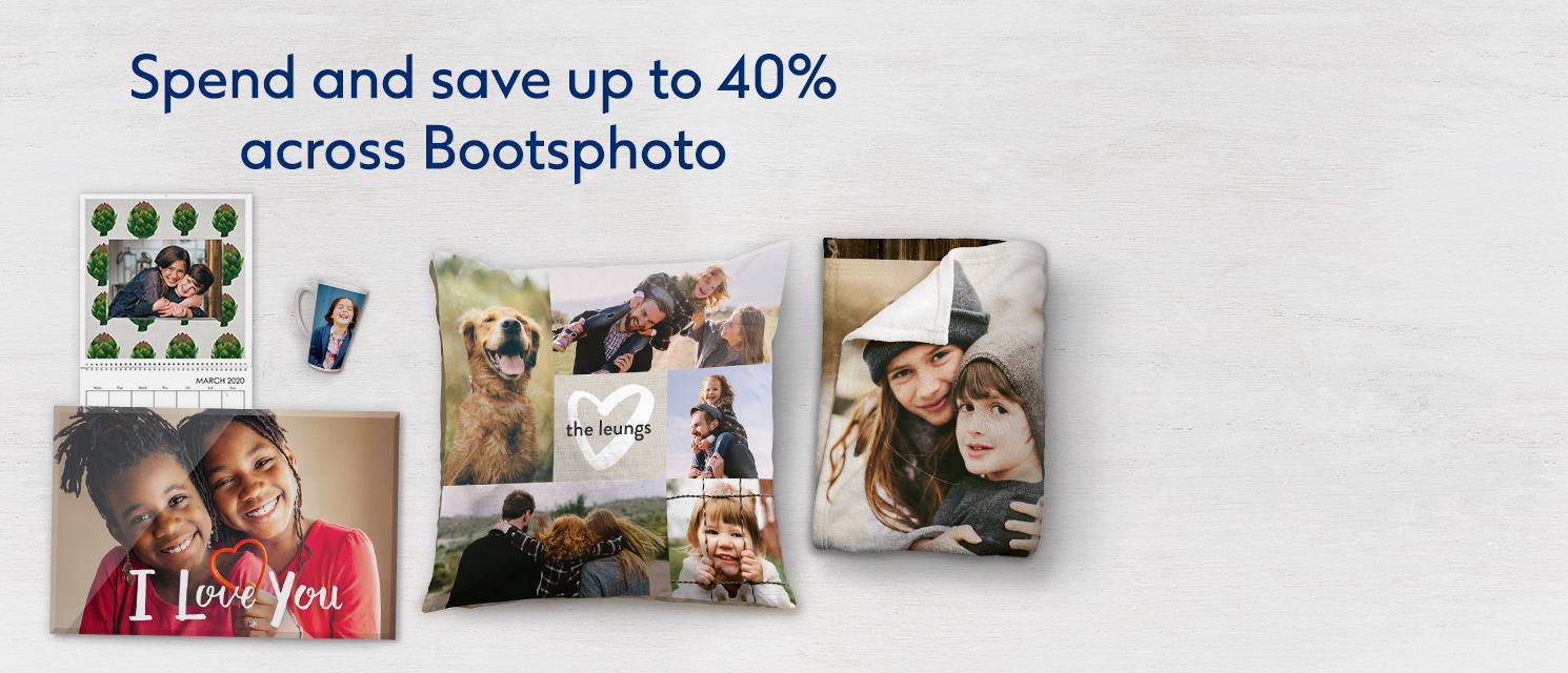 Spend and save up to 40% across bootsphoto.com