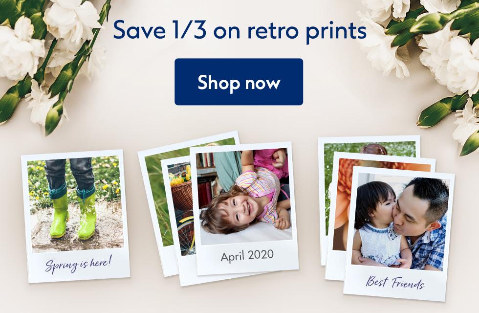 Save 1/3 on retro prints